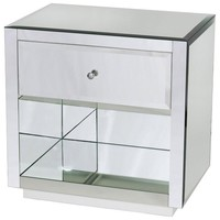 Farrah One Drawer Side Table/Nightstand