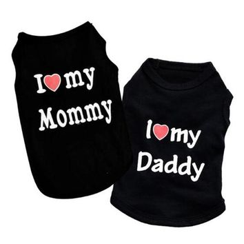 I Love Mommy Pet Clothes