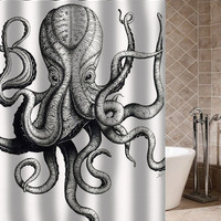 Octopus Shower Curtain hot selling 2015 4 size available