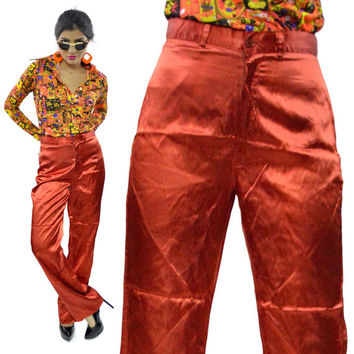 Vintage 80s Time and Place Shiny Disco Glam Slacks Pants