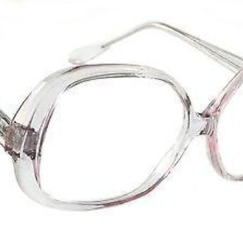 WOMEN RETRO READING GLASSES FASHION VICTORIA STYLE OVERSIZED CLEAR FRAME READERS
