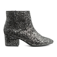 H&M Glittery Ankle Boots $39.99