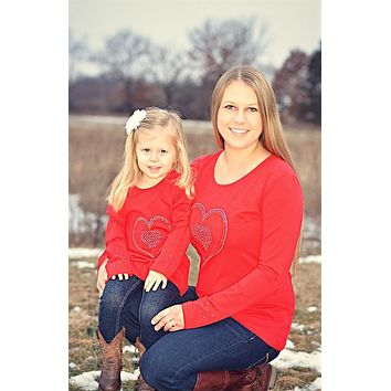 Mommy and Me Red Top