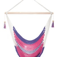 Mission Hammocks Hanging Hammock Chair - Pink and Purple