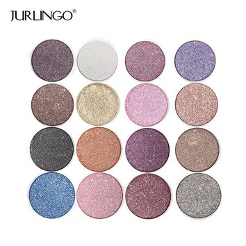 Shimmer Eye Shadow Palette Make Up Waterproof Professional Diamond Eyeshadow Pigment With Brush Makeup Cosmetics Set By JURLINGO