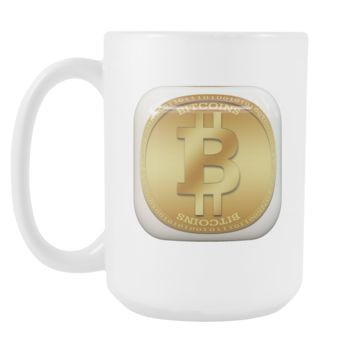 Bitcoin Gold Plate Tall Mug