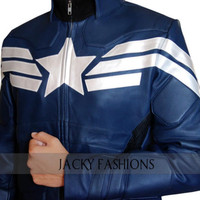 Captain America Chris Evans Winter Soldier  2014 Movie Jacket  + FREE GIFT