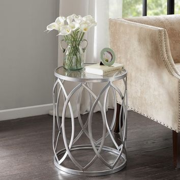 Madison Park Coen Metal Eyelet Accent Drum Table | Overstock.com Shopping - The Best Deals on Coffee, Sofa & End Tables