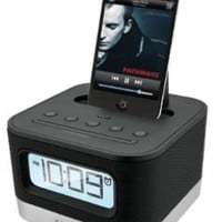 iHome iP10 Stereo Alarm Clock Speaker Dock For 30-Pin iPod/iPhone (Not Compatible w/ iPhone 5)