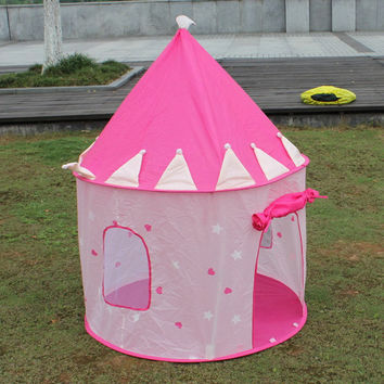 Play House Tent for Children Playhouse Portable Pink Pop Up Play Tent Kids Girl Princess Castle Outdoor House Play Tent Lodge