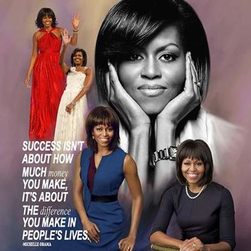 First Lady Michelle Obama Wishum Gregory Art Print