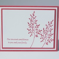 Hand Made Sympathy Card with Pink Floral Images