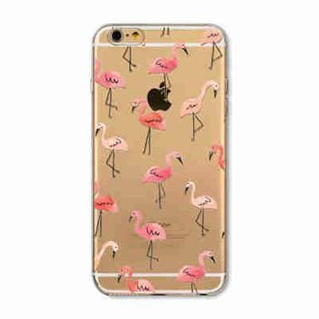 Clear Flamingo Phone Case for iPhone 7 6 6s