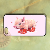 Cute Love Pig iPhone 5, 4s, iphone 4, Samsung GS3, GS4 case,  Ipod touch5-Silicone Rubber or Hard Plastic Case, Phone cover