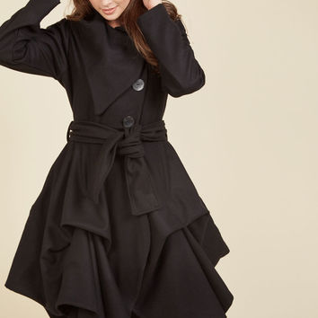 Tier for the Party Coat in Black | Mod Retro Vintage Coats | ModCloth.com
