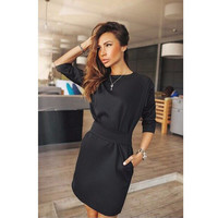 Black  One Piece Sexy Women Summer Roper Dress Date Party Evening Dress = 5988240705