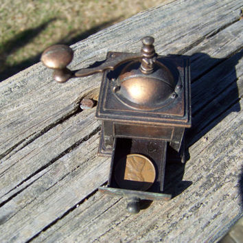 Vintage Miniature Coffee Grinder--Durham Industries--American Greetings--Holly Hobbie--Metal Die Cast--Doll House Toy--My Vintage Home