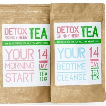 14 Day Natural Weight Loss Tea by Detox Skinny Herb Tea