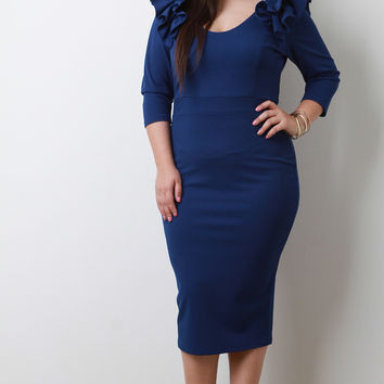 Plus Size Bodycon Midi Dress | UrbanOG