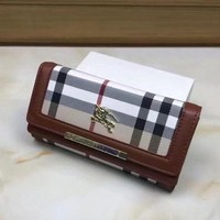 MDIGUP0 Burberry Women Leather Purse Wallet4