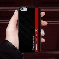 Mercedes Benz Amg Red Stripe Fit Hard Case For iPhone 6 6s 7 8 Plus X Cover +