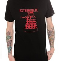 Doctor Who Dalek Exterminate T-Shirt 2XL Size : XX-Large