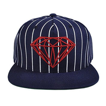 Diamond Supply Co. - Brilliant Pinstripe Snapback Hat, Size: O/S, Color: Navy