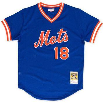 DCCKFC9 Mitchell & Ness Darryl Strawberry 1986 Authentic Mesh BP Jersey New York Mets