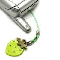 Cellphone Charm 149 18 Strawberry Lime Green