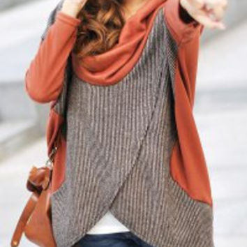 Orange Batwing Sleeve T-Shirt