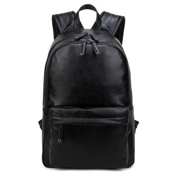 College Comfort Hot Deal Casual Stylish Back To School On Sale Korean Vintage Men PU Leather Backpack [6542360003]