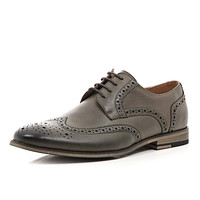 River Island MensGrey formal brogues