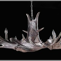 The Manitoba - Moose Antler Chandelier (6 Paddles)