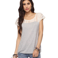 Partial Lace Tee