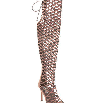 Steve Madden Silk Over The Knee Caged Sandals | Dillards