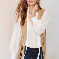 Let's Ride Crop Fringe Vest