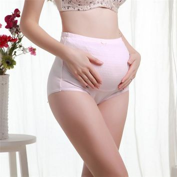 Pregnant Belly Care Maternity Panties Brief Pregnancy 100% Cotton High Waist Underwear