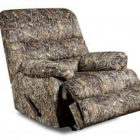 Patterned Camouflage Plush Rocking Chair | Conceal Camo Recliner