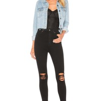 Dr. Denim Moxy Jean in Black Ripped Knees | REVOLVE