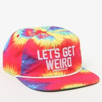PacSun Let's Get Weird Snapback Hat - Mens Backpack - Tie Dye - One