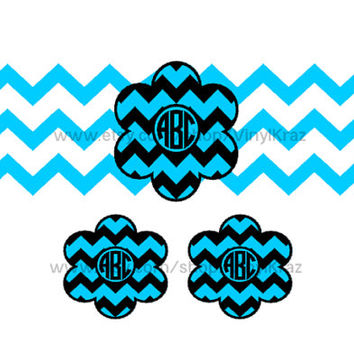 Iphone/Ipod Charger Wrap set with 2 matching phone monograms