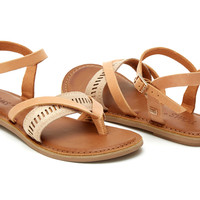 SANDSTORM LEATHER METALLIC WOMEN'S LEXIE SANDALS
