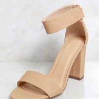 Feel The Heat Strappy Heel Natural