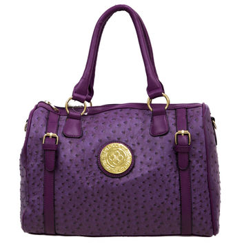 Purple Handbag with Gold Detailing