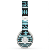The Vector Blue & Black Aztec Pattern V2 Skin for the Beats by Dre Solo 2 Headphones