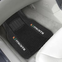 University of Miami Deluxe Mat 20x27