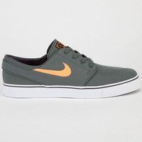 Nike Sb Zoom Stefan Janoski Canvas Mens Shoes Dark Mica Green/Atomic Orange/Black  In Sizes