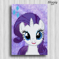 Rarity my little pony poster nursery girl prints