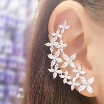 Flower Ear Cuff Earrings