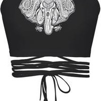 Elephant Digital Crop Top